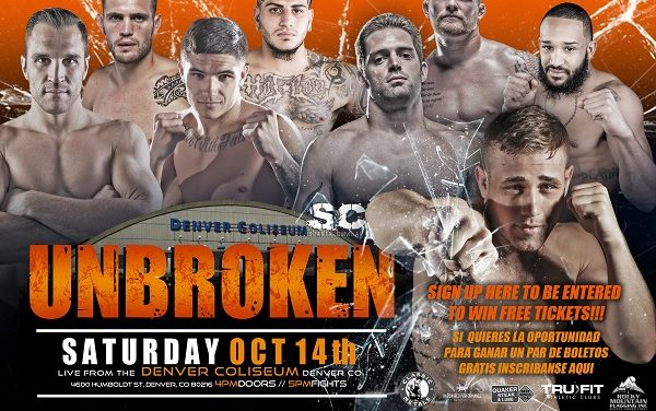 Sparta Combat League Oct 14th at The Denver Coliseum (SLC62- UNBROKEN)
